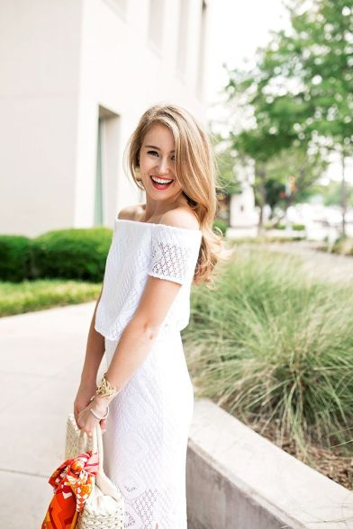 Gorgeous white two piece outfits ideas 22