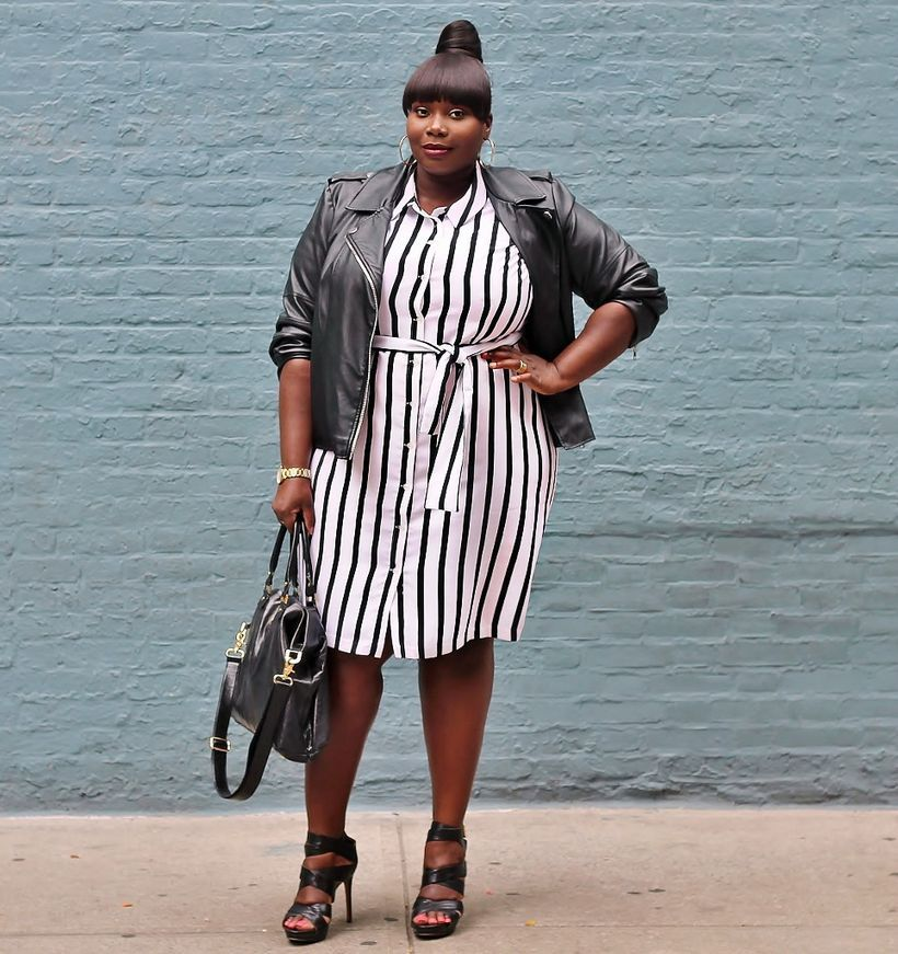 Marvelous striped shirtdresses outfits ideas 1