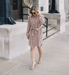 Marvelous striped shirtdresses outfits ideas 10
