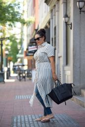 Marvelous striped shirtdresses outfits ideas 14