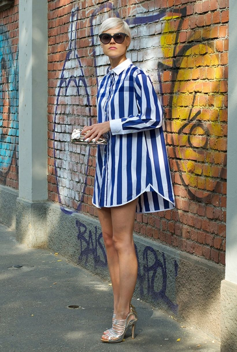 Marvelous striped shirtdresses outfits ideas 19