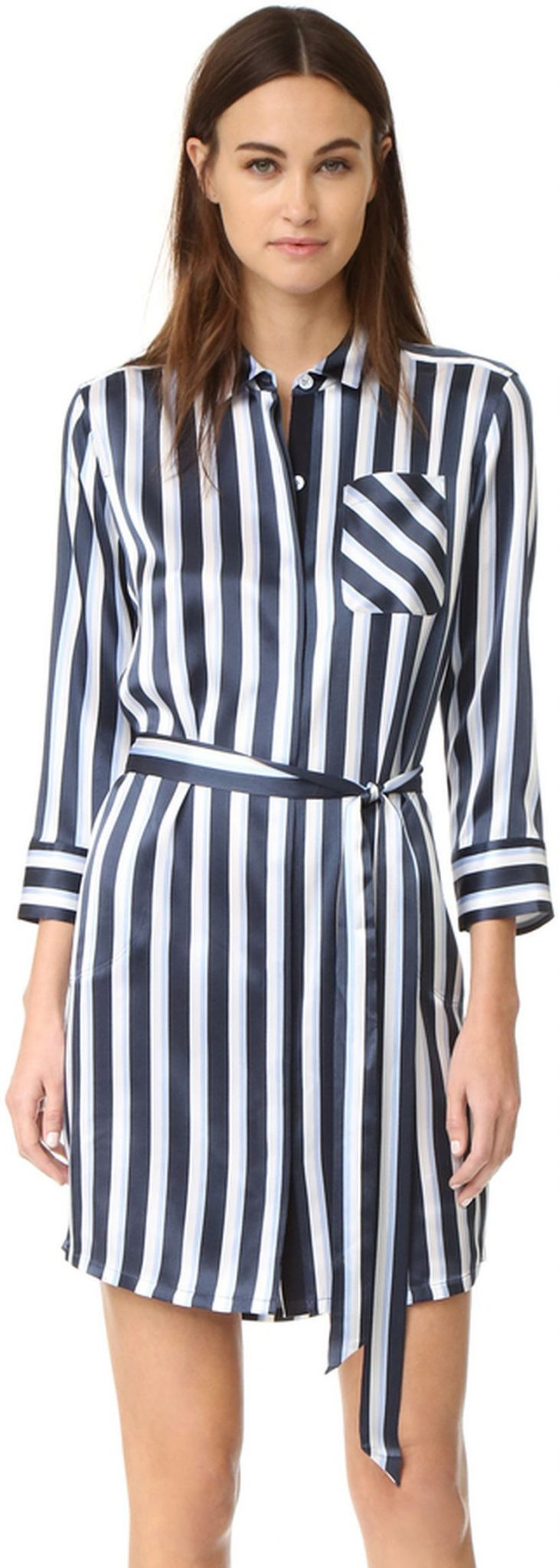 Marvelous striped shirtdresses outfits ideas 24