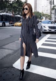 Marvelous striped shirtdresses outfits ideas 27