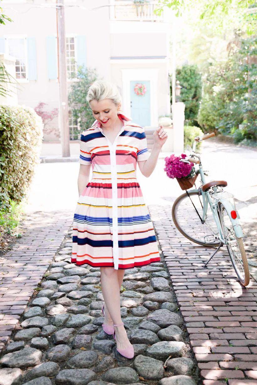 Marvelous striped shirtdresses outfits ideas 3