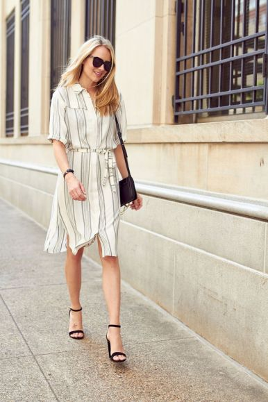 Marvelous striped shirtdresses outfits ideas 38