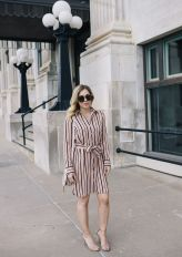 Marvelous striped shirtdresses outfits ideas 43