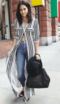 Marvelous striped shirtdresses outfits ideas 44