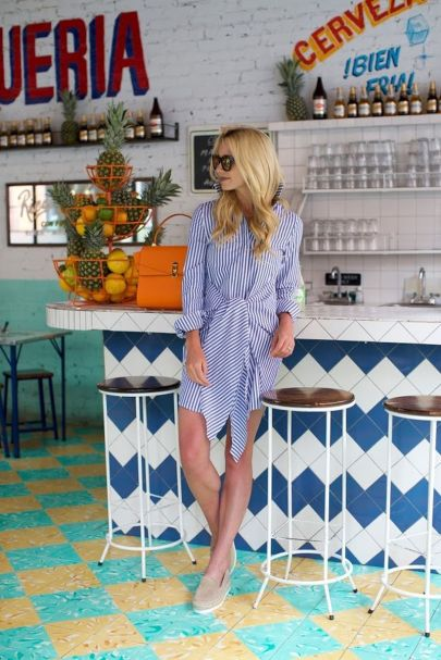Marvelous striped shirtdresses outfits ideas 52