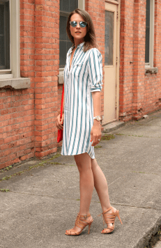 Marvelous striped shirtdresses outfits ideas 57