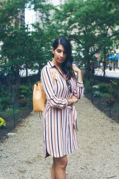 Marvelous striped shirtdresses outfits ideas 7
