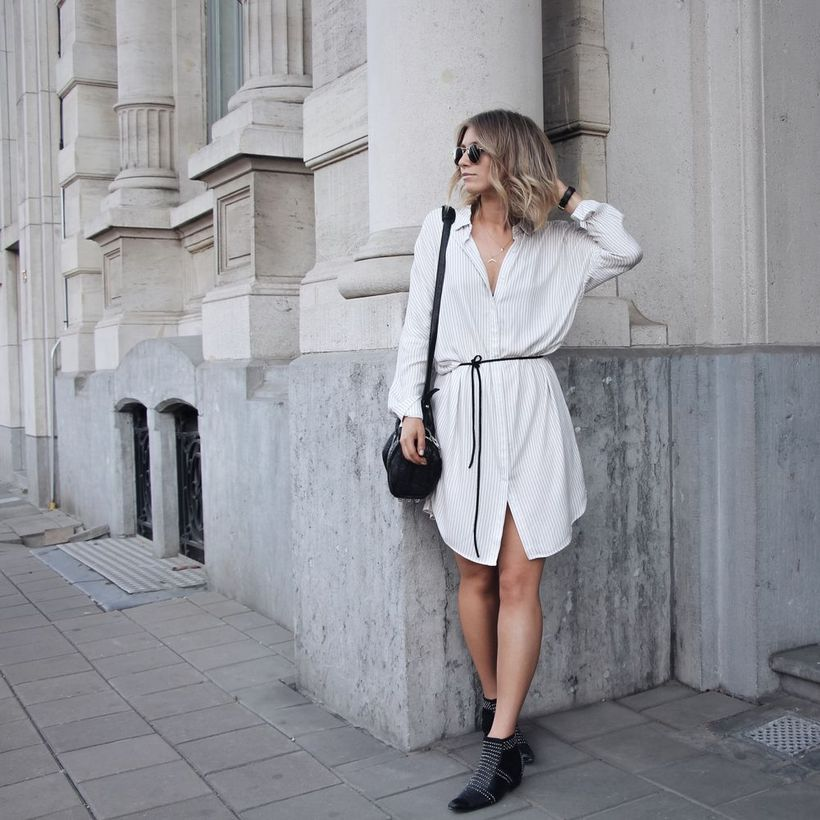 Marvelous striped shirtdresses outfits ideas 76