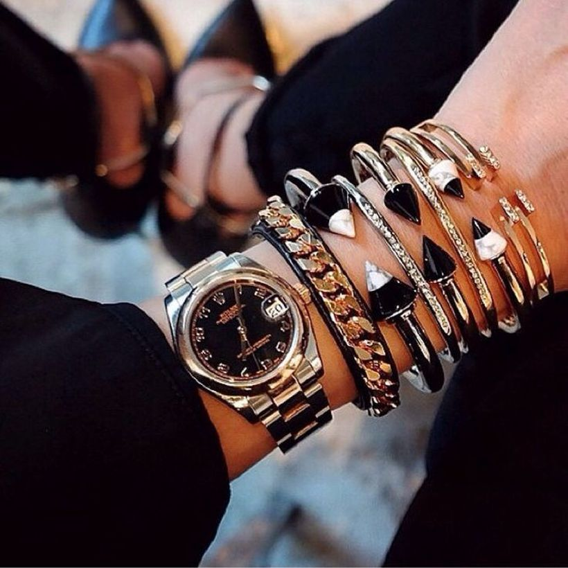 Stacked arm candies jewelry ideas 100