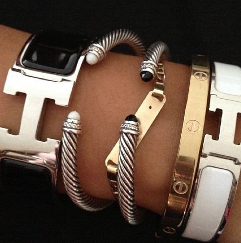 Stacked arm candies jewelry ideas 107