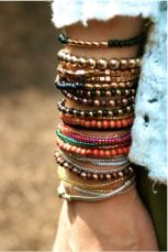 Stacked arm candies jewelry ideas 113