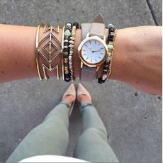 Stacked arm candies jewelry ideas 114
