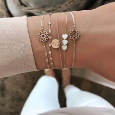 Stacked arm candies jewelry ideas 121