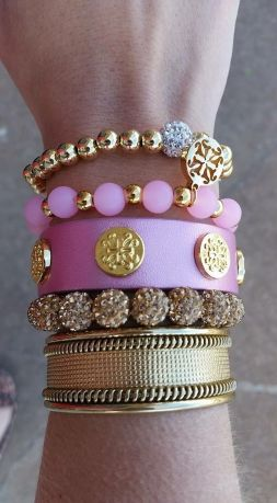 Stacked arm candies jewelry ideas 14