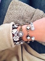 Stacked arm candies jewelry ideas 16