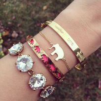 Stacked arm candies jewelry ideas 17