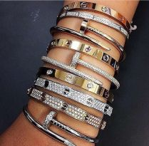 Stacked arm candies jewelry ideas 19