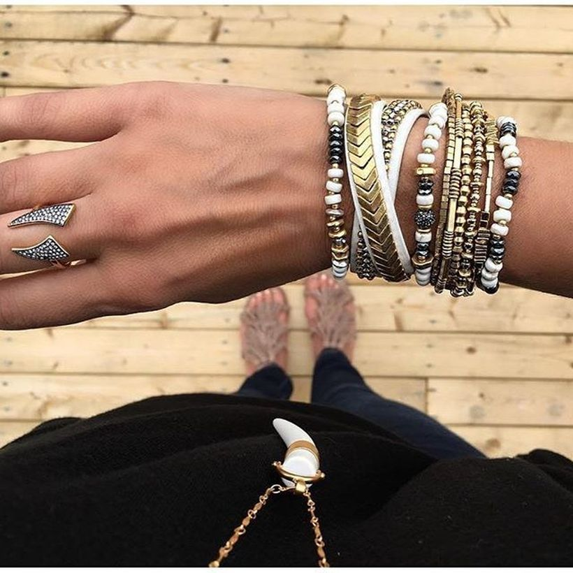 Stacked arm candies jewelry ideas 26