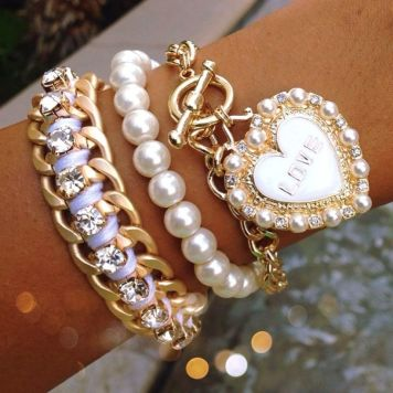 Stacked arm candies jewelry ideas 28