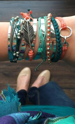 Stacked arm candies jewelry ideas 36