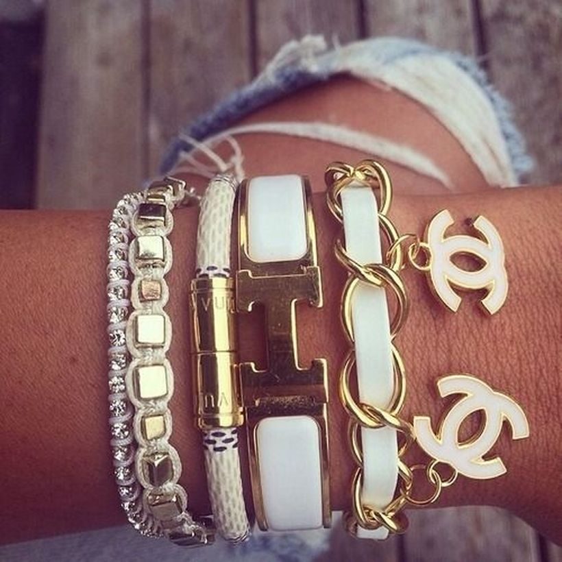 Stacked arm candies jewelry ideas 48