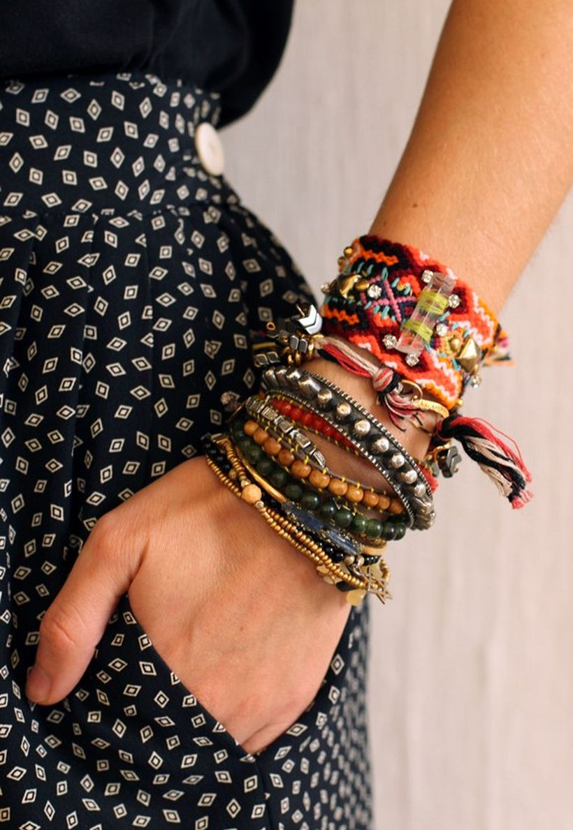 Stacked arm candies jewelry ideas 56