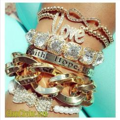 Stacked arm candies jewelry ideas 57
