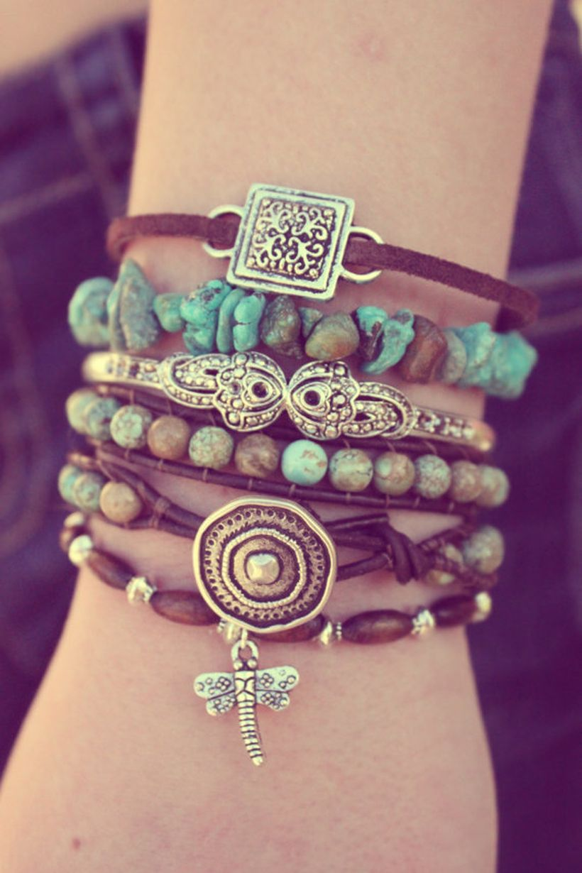 Stacked arm candies jewelry ideas 64