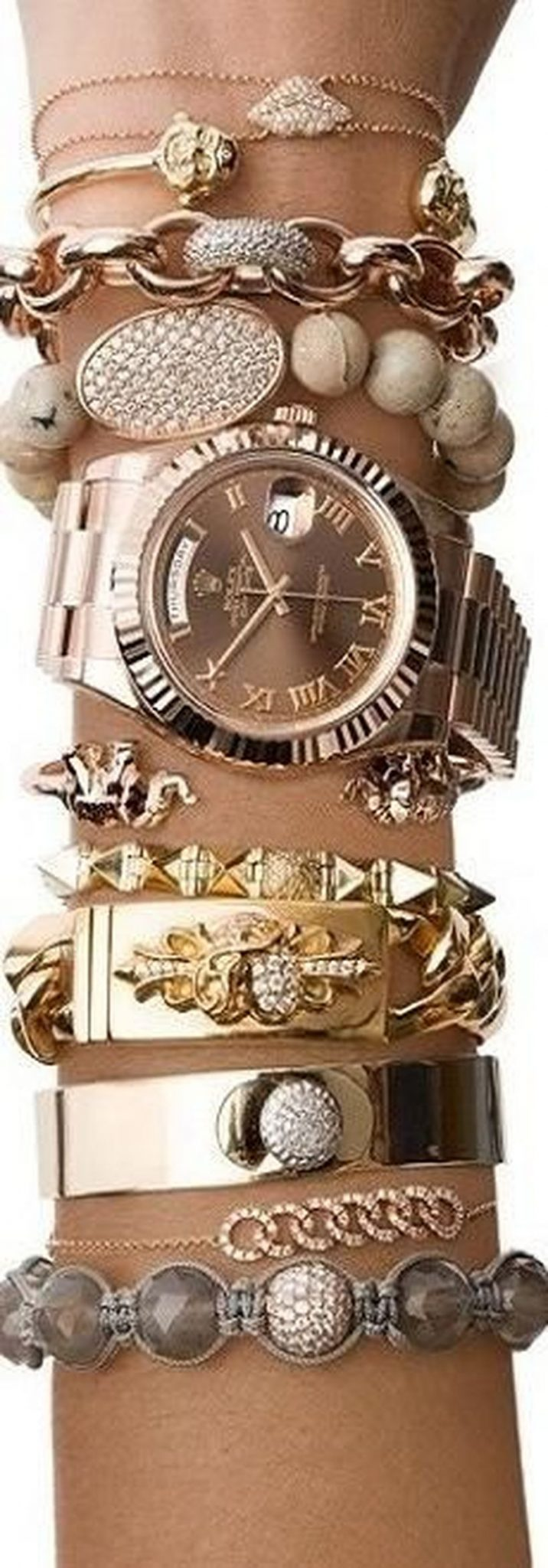 Stacked arm candies jewelry ideas 67