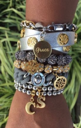Stacked arm candies jewelry ideas 73