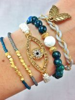 Stacked arm candies jewelry ideas 83