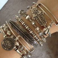 Stacked arm candies jewelry ideas 85