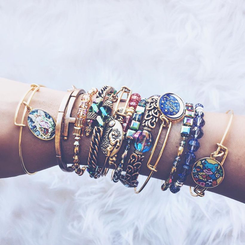 Stacked arm candies jewelry ideas 88