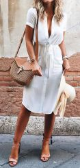 Stunning white shirtdresses outfits 3