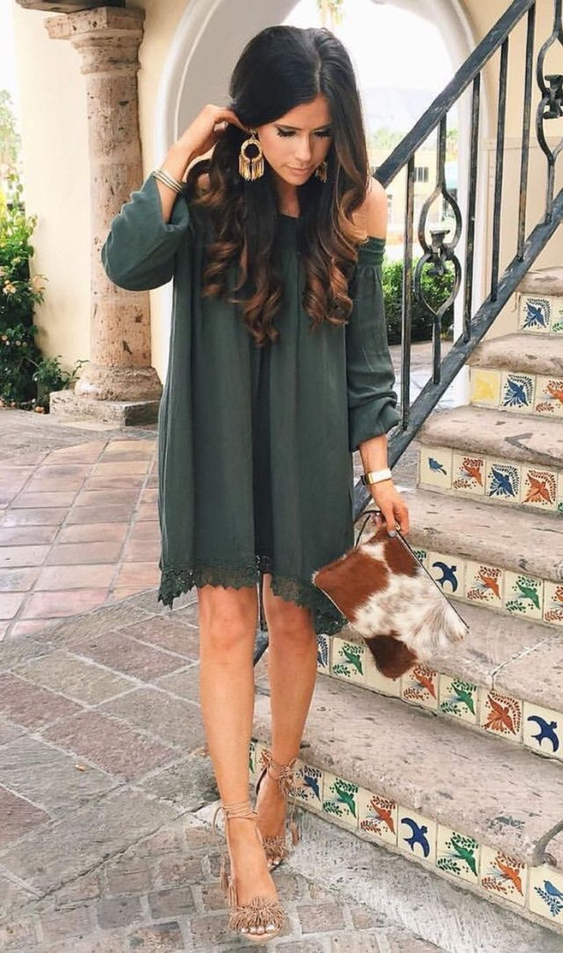 Stylish open shoulder dress outfits 2017 19