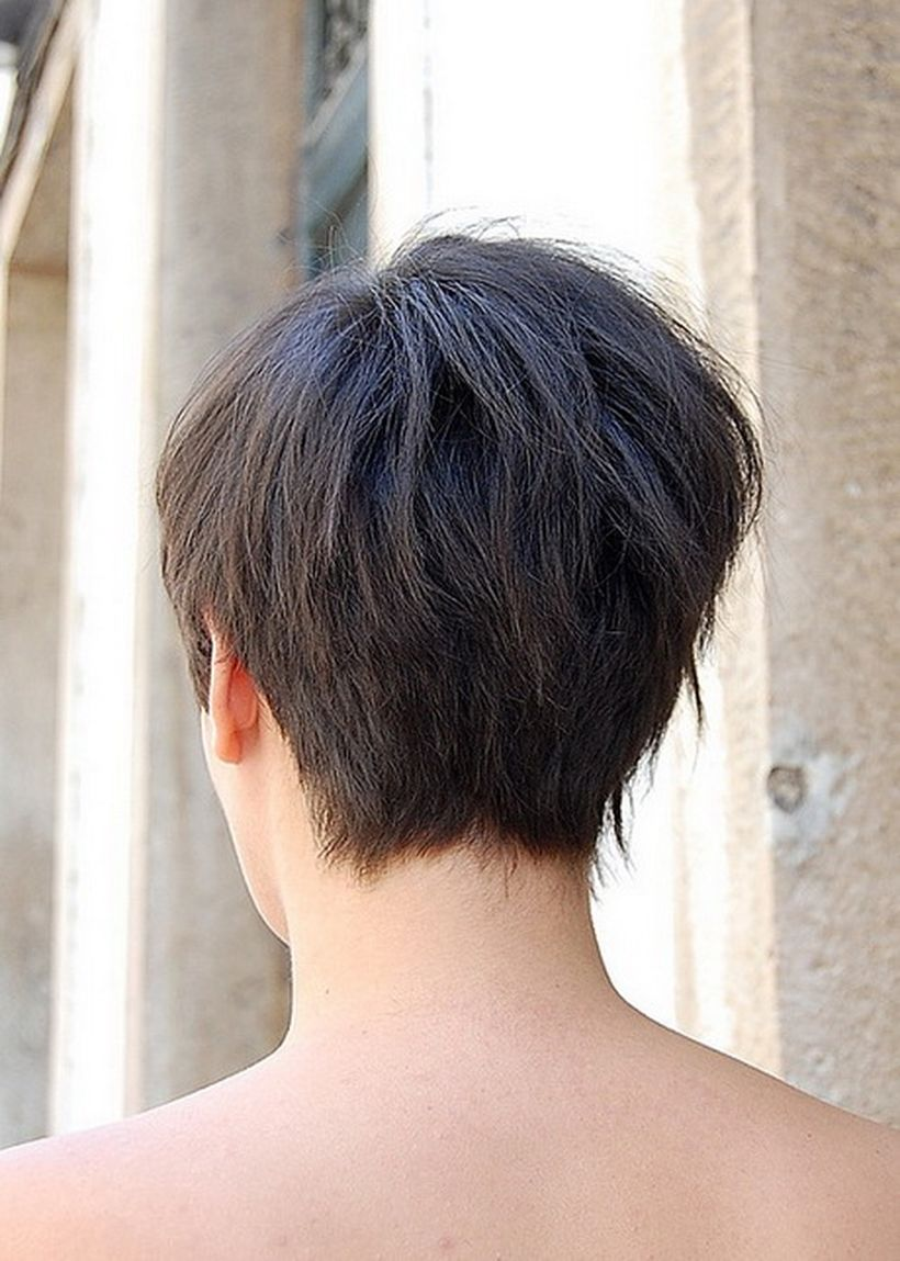 Stylist back view short pixie haircut hairstyle ideas 20