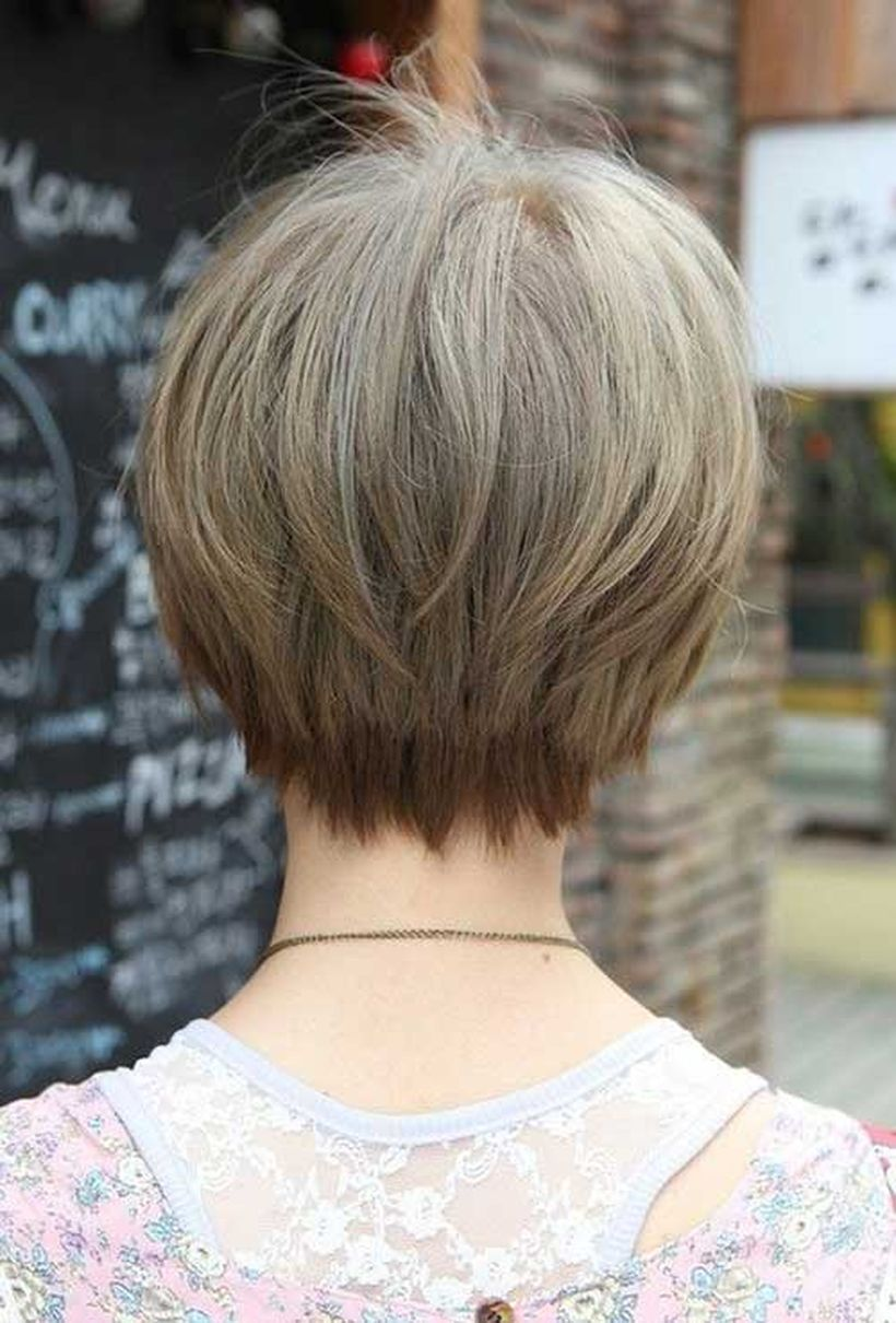 Stylist back view short pixie haircut hairstyle ideas 27