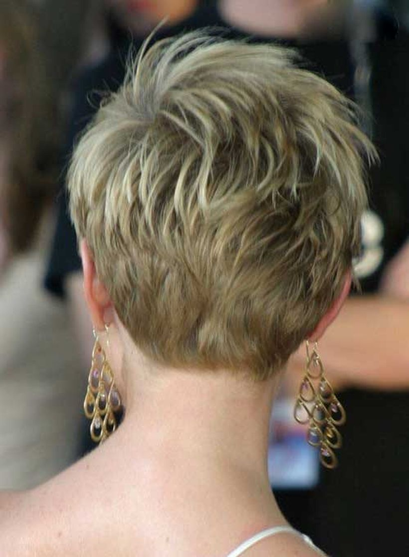 Stylist back view short pixie haircut hairstyle ideas 38