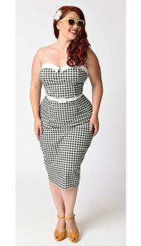 Vintage plus size rockabilly fashion style outfits ideas 16