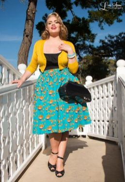Vintage plus size rockabilly fashion style outfits ideas 3
