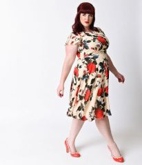 Vintage plus size rockabilly fashion style outfits ideas 5