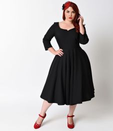 Vintage plus size rockabilly fashion style outfits ideas 53