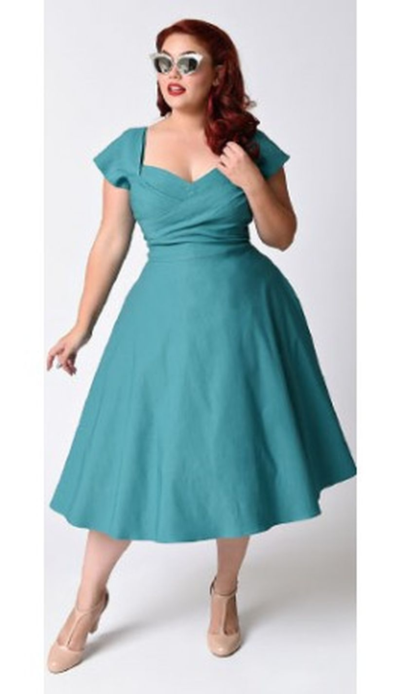 Vintage plus size rockabilly fashion style outfits ideas 54