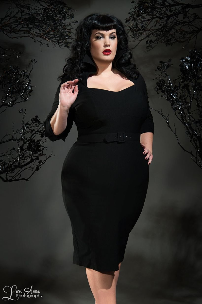 Vintage plus size rockabilly fashion style outfits ideas 57