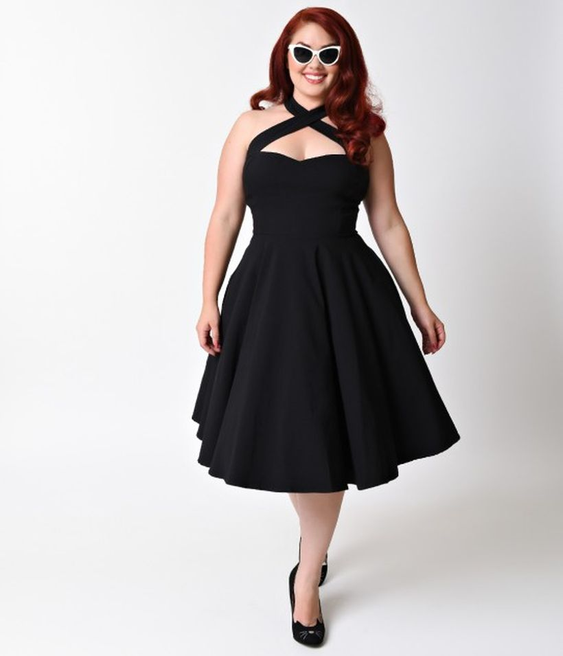 Vintage plus size rockabilly fashion style outfits ideas 62