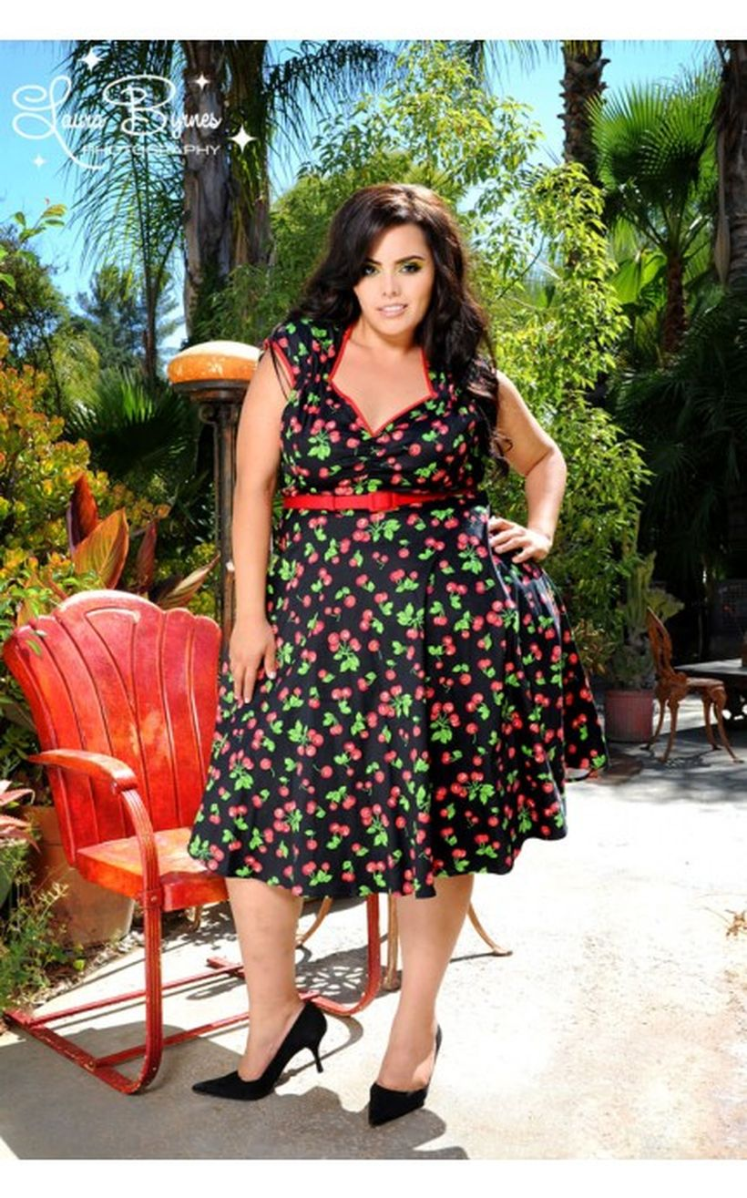 Vintage plus size rockabilly fashion style outfits ideas 65
