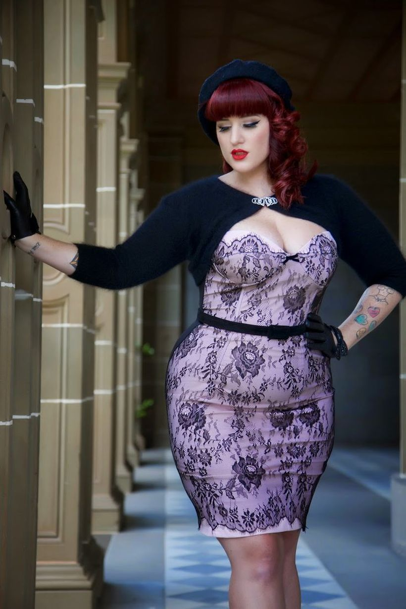 Vintage plus size rockabilly fashion style outfits ideas 76